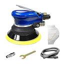 エアーポリッシャー サンダー ダブルアクション 吸塵式 125mm 10000rpm 研磨工具 洗車 研磨用 (エアーポリッシャー本体)