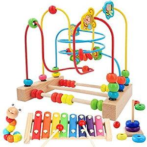 Jiudam ビーズコースター ルーピング おもちゃ 子供