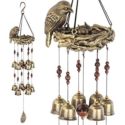 小鳥 鳥の親子ドアベル ガーデンベル 開き戸 引戸(Rurumi)