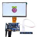 GeeekPi Raspberry Pi 7インチ1024x600 HDMIスクリーンLCDディスプレイ、Raspberry Pi用ドライバーボードモニター4B 3B + 3B
