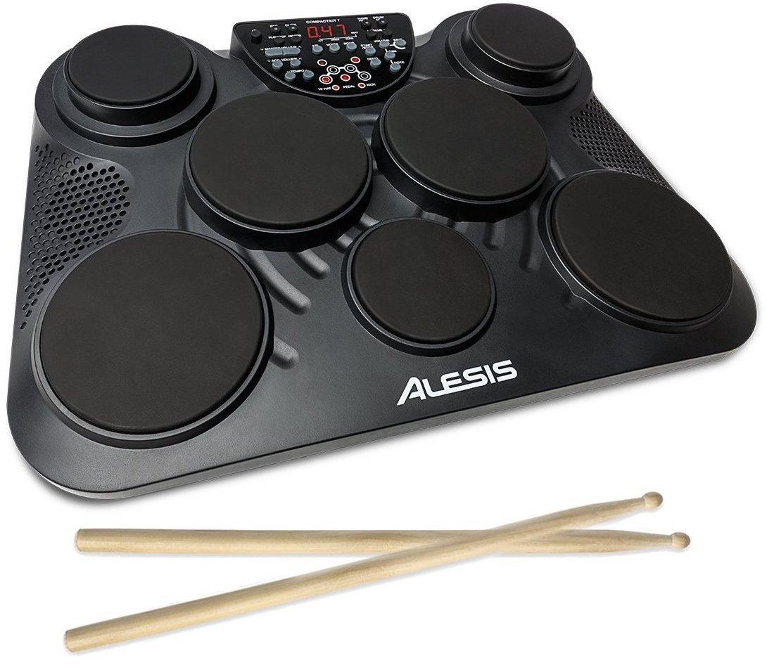 10%OFF公式/送料無料Alesisポータブル電子ドラムキットコーチ機能搭載フットペダル・ドラムス