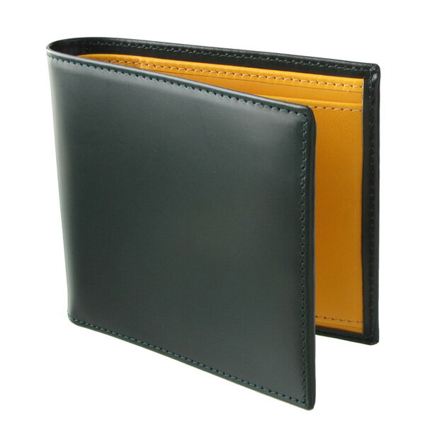 ETTINGER エッティンガー 二つ折り財布 メンズ ブライドルレザー BH 142JR GREEN グリーン
