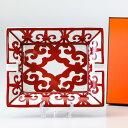 エルメス HERMES ガダルキヴィール レッド 011096p 20cm×16cm サンドリエ 灰皿 アッシュトレイ