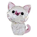 スワロフスキー SWAROVSKI クリスタルフィギュア オブジェ Kitten Millie 猫 ネコ アメリカンショートヘア インテリア フィギュリン 置物 5223597