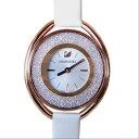 スワロフスキー 腕時計 レディース CRYSTALLINE OVAL ウォッチ クリスタルライン オーバル ローズゴールド ホワイト 5230946