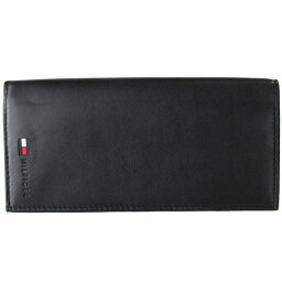 <strong>トミーヒルフィガー</strong> TOMMY HILFIGER 長財布 小銭入れ付 メンズ ブラック 31TL19X015-001 5473 名入れ可有料 ※名入れ別売り