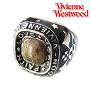 【2010年新作・送料無料】ヴィヴィアン・ウエストウッドリングヴィヴィアンウエストウッドリング指輪NEWカレッジリングレオパード/ジャスパーブラック×シルバーVivienneWestwood【smtb-MS】【あす楽対応】【楽ギフ_包装選択】