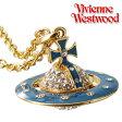 ヴィヴィアンウエストウッド Vivienne Westwood ネックレス パヴェ 3D オーブ ペンダント ティール×ゴールド【smtb-MS】【楽ギフ_メッセ入力】【楽ギフ_包装選択】【あす楽対応】