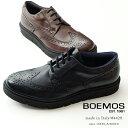 【40%OFF SALE】BOEMOS ( ボエモス ) メンズ ハイブリッドシューズ ウィングチップ シューズ 本革 黒 ブラック 茶 ブラウン エクストラライト(boemos4428-162)期間限定