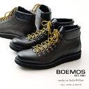 【30%OFFSALE】BOEMOS ボエモス メンズ マウンテン ブーツ 軽量ソール ハイブリッドシューズ 本革 黒 茶 ブラック ブラウン イタリア製(boemos4566)インポートシューズ