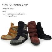 「FABIO RUSCONI(ファビオ ルスコーニ)」本革スエードブーツ インヒールブーツ ベロクロ ムートンブーツ(fabio_1675)/イタリア製 インポートシューズ【w1】 SALE