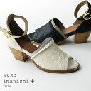 【30%off】yuko imanishi+ サンダル レディース 本革 アンクルストラップ 太ヒール メタリック (yuko76210) インポートシューズ【w1】…