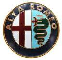 【アルファマジック】ALFAROMEO エンブレム 75mm アルファロメオ スパイダー デュエット クワドリフォリオ ヴェローチェ 105系 115系
