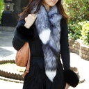 [renew it in a clip type] a long muffler (collar) of the go Japanese Agricultural Standards Fox fur (fur) [original made in Japan]■