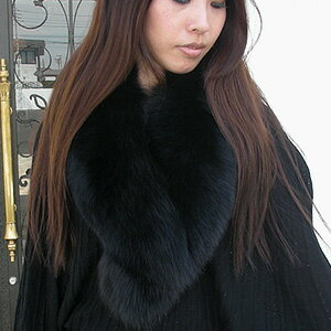 SAGA Fox (FOX fur) ヘチマロング color (winding scarf, Tippett and collar ) ■
