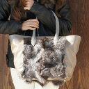 フランチェスカ ファートートバッグ チェントロ ファー バッグ ファーバッグ 毛皮 バッグ 革 レザー