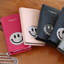 手帳型 スマホケース ニコちゃん スマイル iphone 6 & 6S のみ対応アイフォーン アイフォン スマホ ケース スワロフスキー スワロ クリ…