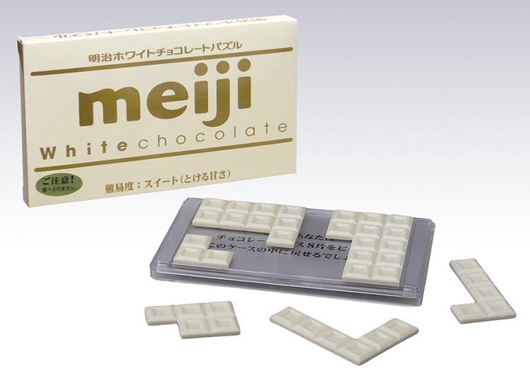 立体パズルHAN-04723パズルゲーム明治ホワイトチョコレートパズルスイート(とろける甘さ)