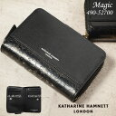 二つ折り財布 キャサリンハムネット メンズ 縦型 KATHARINE HAMNETT マジック 490-52700