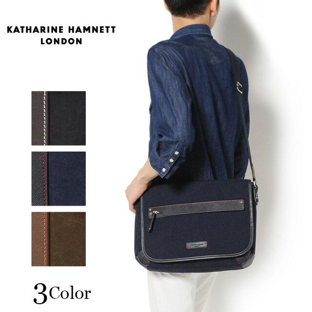 【ポイント10倍/送料無料】 KATHARINE HAMNETT [キャサリンハムネット] Standard ショルダーバッグ 490-7152 【ブランド】【革】【メンズ】【あす楽対応】