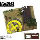 TOUGH タフ 二つ折り財布 MINGLE 55515 メンズ コットン 革 カーキ