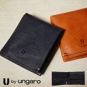 ウンガロ 二つ折り財布 メンズ U by ungaro ラグジュアリー 革 レザー 210-28001