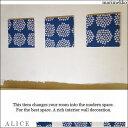 ファブリックパネル アリス marimekko PUKETTI 30×30cm 3枚組 ブルー ファブリック パネル マリメッコ プケッティ 花束 和洋