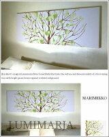 marimekko/ファブリックボード/アートパネル/マリメッコ/LUMIMARJA/緑/140×43cm