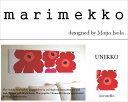 ファブリックパネル アリス marimekko UNIKKO 130×43cm マリメッコ ウニッコ レッド 【大型商品ヤマト便・時間指定不可】