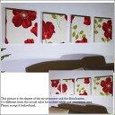 ファブリックパネル アリス adornoCLARA 30×30cm 4枚組 赤 花柄 インテリア アドルノ adorno CLARA クララレッド