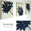 ファブリックパネル アリス adornoPASAR 30×30cm 3枚セット ダークネイビー 壁飾