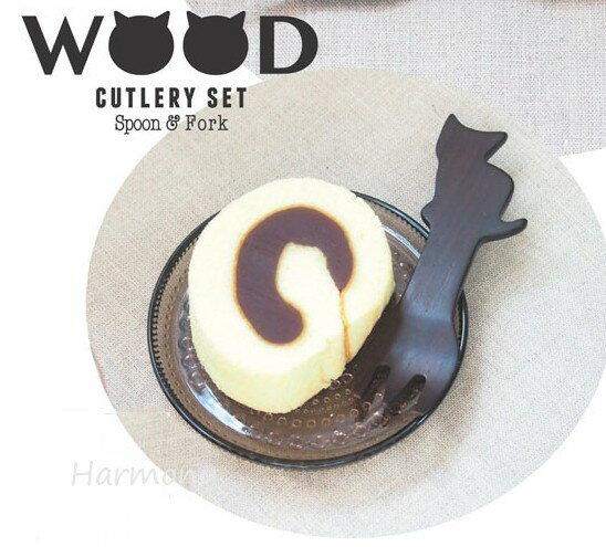 ■ 【ネコ雑貨】ウッドカトラリーミニセット ネ...の紹介画像2