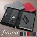 ファイロファックス filofax マイクロファイバー Microfiber ジップ A4 電卓付きホルダー マルチホルダー ノートパッドホルダ..