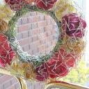 大型★シルバースターを連ねた薔薇リース。ALLシーズンお洒落に!ロマンティックな壁飾り【送料無料】 _.