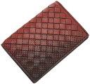 ボッテガヴェネタ 464902-2283 カードケース ボッテガ 二つ折り 名刺入れ グラデーション イントレッチャート ブラウン/テラコッタ アウトレット BOTTEGA VENETA