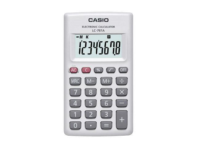 【納期約7〜10日】LC-797A-N CASIO カシオ計算機 カード型電卓 LC797AN