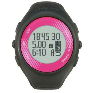 Running watch with AR-2080PK dark gray X pink GPS