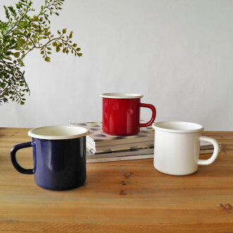 Enamel ホーローマグ Cup white plain simple white mug 250 ml diameter 7 cm x 7 cm fs3gm10P28oct13