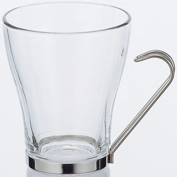 Bormioli Rocco(ボルミオリ ロッコ)オスロ ティーカップ325ml 6個セット[耐熱強化ガラス/ステンレス]