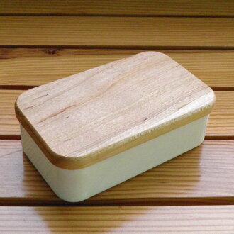 野田佳彥婆羅科努黃油案例 200 克木蓋 BT 200 日本製成的天然木材 (櫻桃) 與
