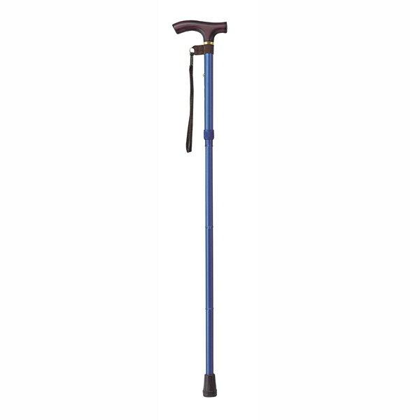 幸和製作所 TacaoF(テイコブ)カラーピッチ付折りたたみ式杖E258 ブルー 折り畳み伸縮杖