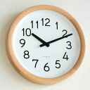 掛け時計【ポイント10倍&送料無料】【Lemnos/レムノス】Day To Day Clock /デイ トゥ デイ クロック/PIL12-10/掛時計/木目/壁掛け/壁掛け時計/時計/おしゃれ/人気/デザイン/インテリア/北欧/クロック/lem-pil1210/ AL CLOCK