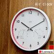 掛け時計 Air clock 温湿時計 電波時計 LC09-11W Lemnos レムノス 掛け時計 電波 壁掛け時計