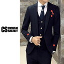 スーツ メンズ 刺繍 フラワー 花柄 薔薇 3P スリーピース 送料無料 インポート 3Pスーツ 3ピーススーツ スリムスーツ セットアップ 上下セット テーラ...