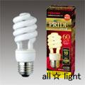 ☆東芝 電球形蛍光ランプ(蛍光灯) ネオボールZ PRIDE(プライド) D形 60W形 3波長形電球色 E26口金 EFD15EL10PDS