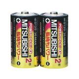 ☆三菱 POWERアルカリGH アルカリ単2電池 [2個入り] LR14GH2S