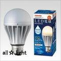 ☆東芝 E-CORE LED電球 一般電球形 4.5W 防水形 調光対応 電球色相当 シリカ電球20W形相当 220lm E26口金 LDA5LWD