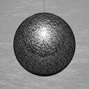 ☆yamagiwa MAYUHANA MA BLACK ペンダントライト E26口金 クリアボールランプ φ95 100W×1灯用 (ランプ付) 引掛シーリング P2910B