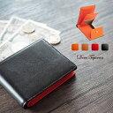 【クーポンSALE】牛革 二つ折り財布 ボックス型小銭入れ ...