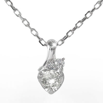 【送料無料】プラチナ ハートネックレス ダイヤモンド 流れ星 一粒ペンダント チャーム pt900 プレゼント ギフト 母の日 4月 誕生石 流れ星 ネックレス プラチナ ハートペンダント
